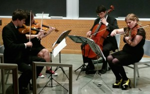 Videri String Quartet playing music from Children of Liberty